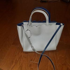 Kate Spade grey scallop bag